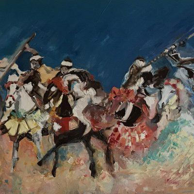 Fantasia, une toile de Corinne Trabichet.
