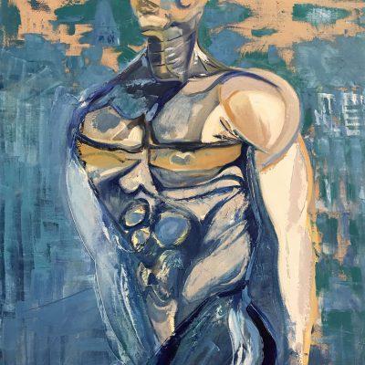 Humanoïde, une peinture de Corinne Trabichet.