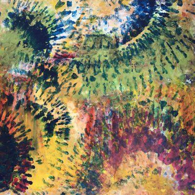 Kaléïdoscope, une toile de Corinne Trabichet.