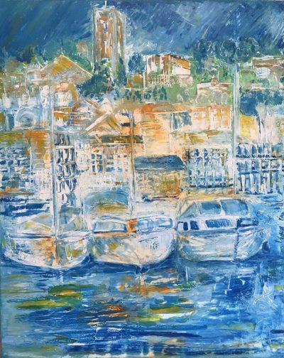 Le Suquet des arts, une peinture de Corinne Trabichet.