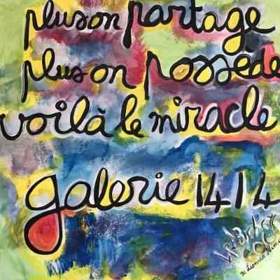 Partage, une toile de Corinne Trabichet.