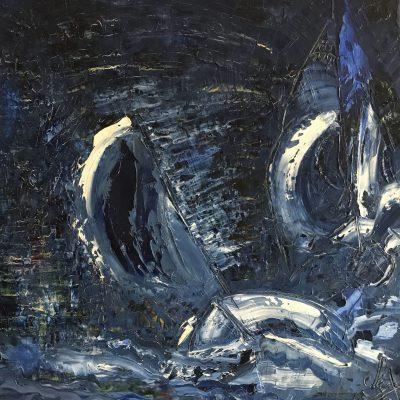 Tempête, une toile de Corinne Trabichet.
